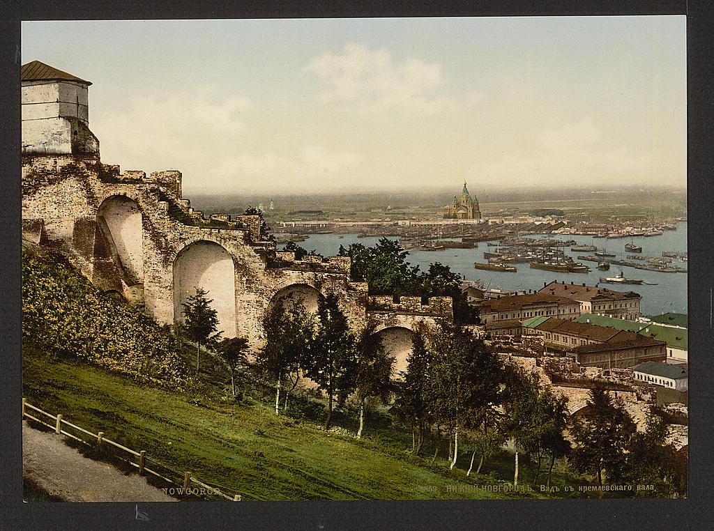 Вид с кремлёвского вала. Нижний Новгород
