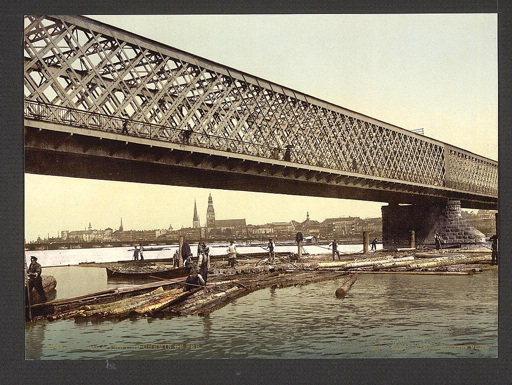 Железнодорожный мост. Рига.