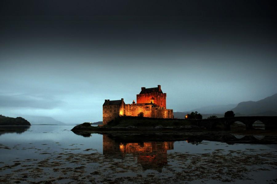 Eilean Donan замок, Шотландия, Великобритания.