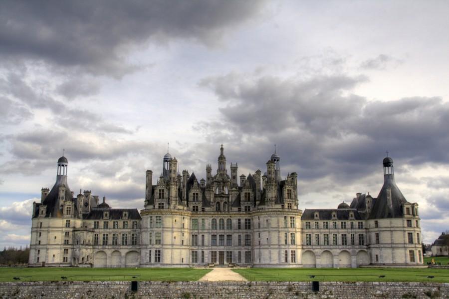 Замок Шамбор, Долина Луары, Франция. Крупнейший замок Долины Луары, он был построен королем Франсуа 1er между 1519 и 1547.