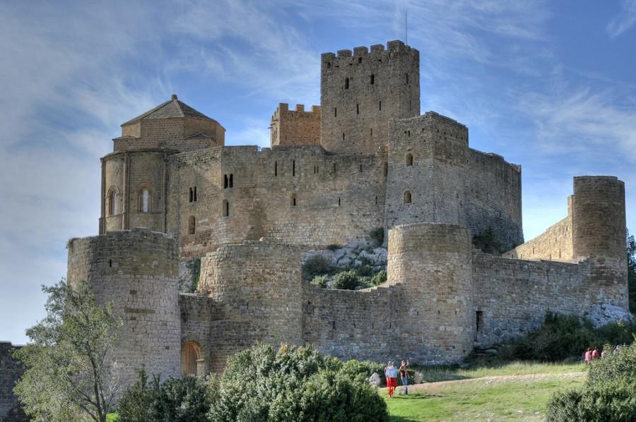 Loarre Замок романская крепость в провинции Уэска, Арагон, Испания.