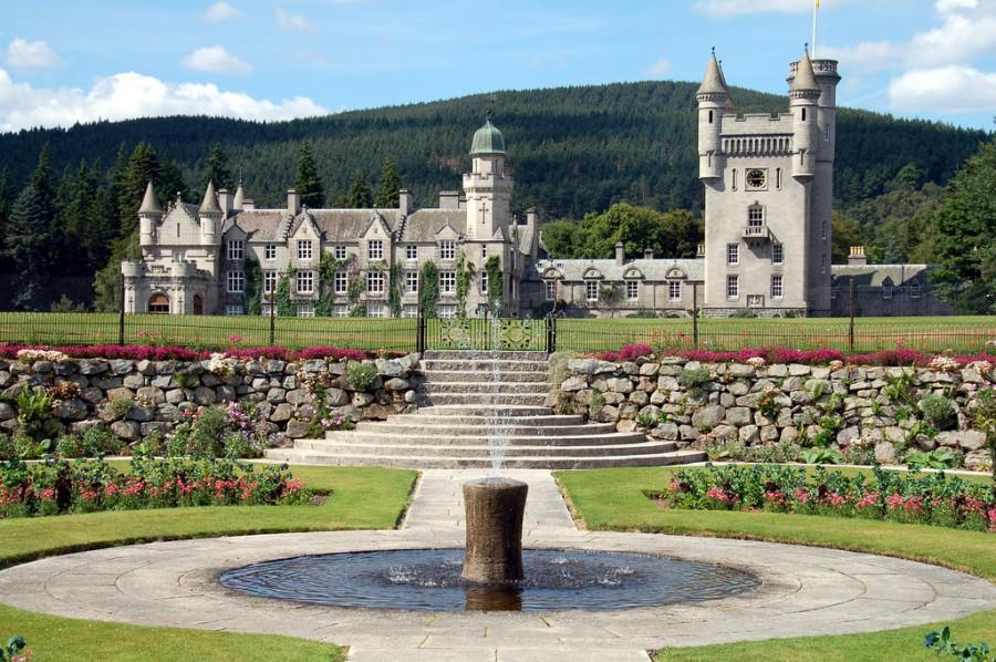 Balmoral замок Grampian Шотландии