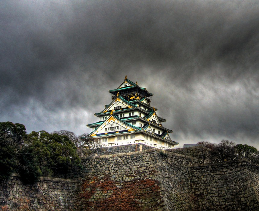 Осака замок, Япония