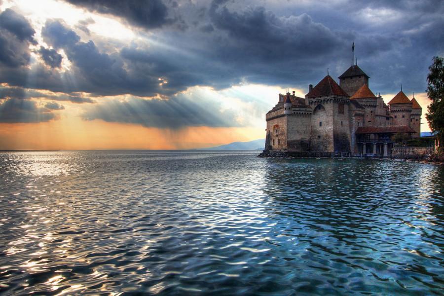 Шато де Шильон, Женевское озеро, Швейцария